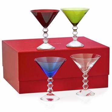 """Набор из четырех разноцветных бокалов для мартини """"Вега"""", h 15 см"""