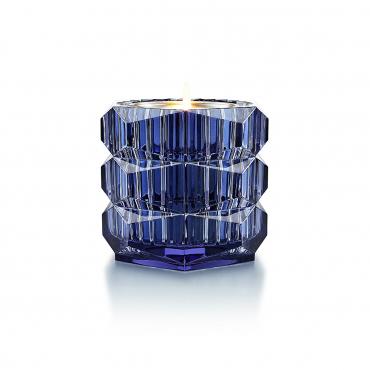 """Ваза синяя """"Louxor"""" с аромасвечой, h 10,5 см"""