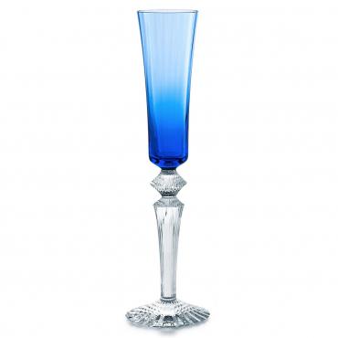 """Набор из двух синих бокалов для шампанского """"Mille Nuits """", h 29 см"""