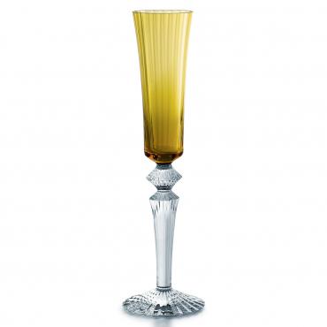 """Набор из двух янтарных бокалов для шампанского """"Mille Nuits """", h 29 см"""