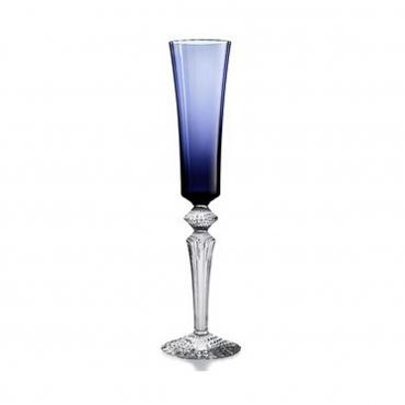 """Набор из двух голубых бокалов для шампанского """"Mille Nuits """", h 29 см"""