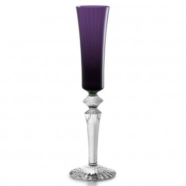"""Набор из двух фиолетовых бокалов для шампанского """"Mille Nuits """", h 29 см"""