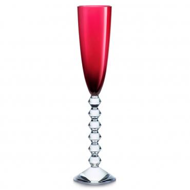 """Набор из двух красных бокалов для шампанского """"Вега"""", h 29 см"""