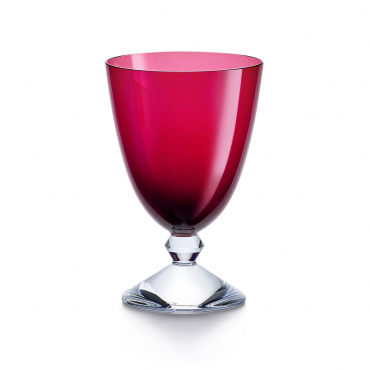 """Набор из двух красных бокалов для воды """"Вега"""", h 14 см"""