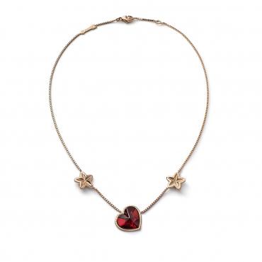 """Ожерелье """"Сердце"""" от Лоренца Баюмера, позолоченное, 1,5х1,5 см"""