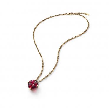 """Ожерелье """"Красный Клевер"""", прозолоченное"""