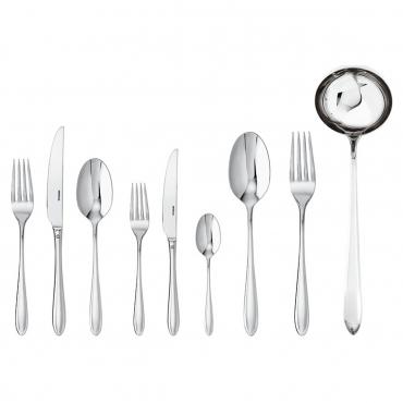 """Набор столовых приборов """"Dream"""" на 12 персон из 75 предметов: столовые и десертные вилки и ножи, столовые и чайные ложки+приборы для подачи блюд: половник для супа, ложка и вилка для сервировки"""