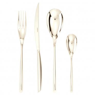 """Набор столовых приборов """"Bamboo"""" на шесть персон из 24 предметов: столовые и чайные ложки, столовые вилки,ножи для стейка"""