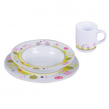 """Набор детский из 3 предметов """"Jenny The Bike"""": тарелка обеденная, тарелка для супа и кружка"""