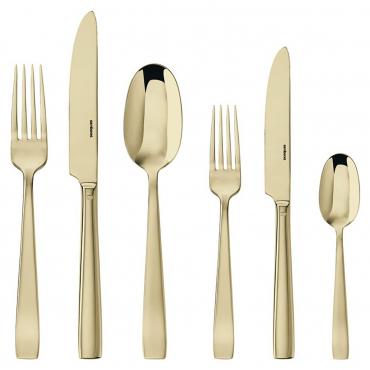 """Набор столовых приборов """"Flat"""" на шесть персон из 36 предметов: столовые ложки, вилки и ножи, десертные вилки и ножи, чайные ложки"""