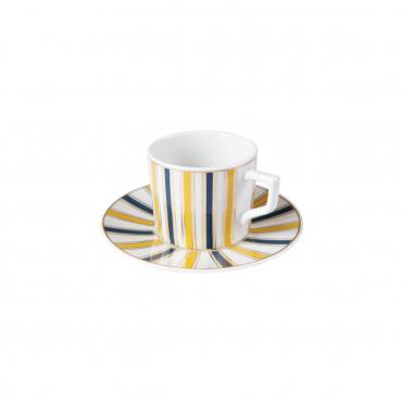 """Набор из двух кофейных чашек с блюдцами """"№41 Stripes"""""""
