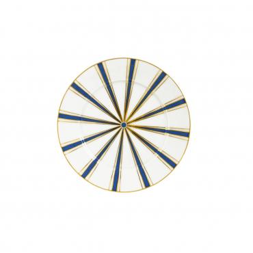 """Пирожковая тарелка """"№41 Stripes"""", синяя, D 17 см"""