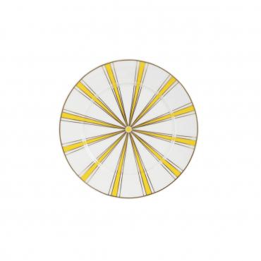 "Пирожковая тарелка ""№41 Stripes"", желтая, D 17 см"