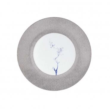 """Обеденная тарелка """"Cosmopolitan Blue Orchid Platinum"""", d 22,5 см"""