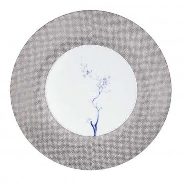 """Подстановочная тарелка """"Cosmopolitan Blue Orchid Platinum"""", d 30 см"""