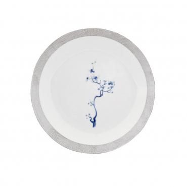 "Тарелка для супа ""Cosmopolitan Blue Orchid Platinum"", d 22,5 см"