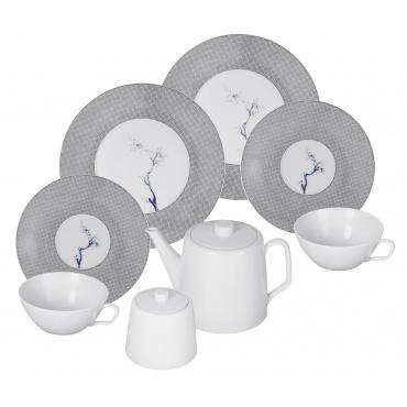 """Набор чайный """"Cosmopolitan Blue Orchid Platinum """" на 2 персоны, 8 предметов"""
