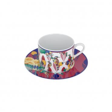 """Кофейная чашка и блюдце для капучино """"Meissen Collage"""", v 0,25 л"""