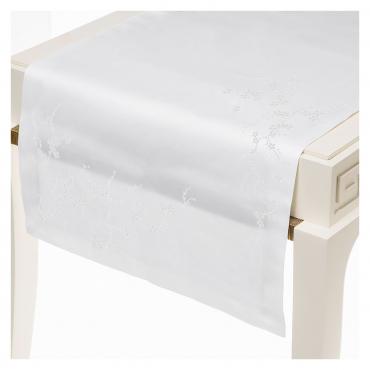 """Шлейф с белоснежной вышивкой """"Bloom"""", 50x160 см"""