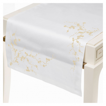 """Шлейф с золотой вышивкой """"Bloom"""", 50x160 см"""