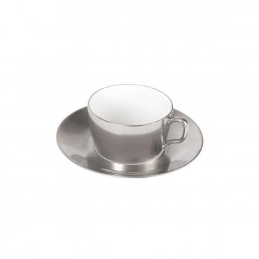 """Чайная чашка с блюдцем инкрустированная платиной """"Cosmopolitan"""", V 0,25 л"""