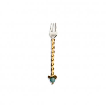 """Набор из четырех позолоченных закусочных вилок """"Venise"""", l 10 см"""