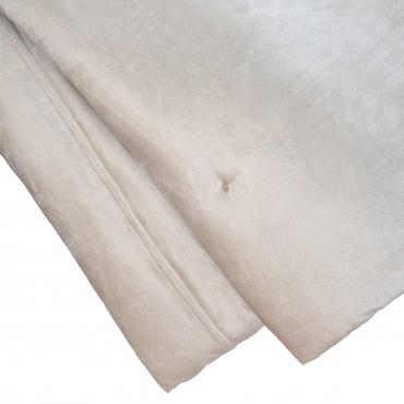 "Покрывало айвори ""Cocoon"", бархат, 270x240 см"