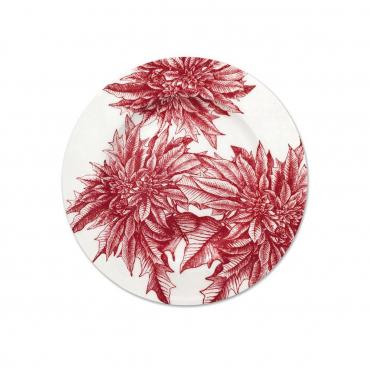 """Набор из четырех салатных/десертных тарелок """"Poinsettia"""", d 21 см"""