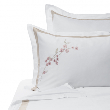 """Комплект постельного белья с вышитой веткой """"Embroidery"""", евростандарт"""
