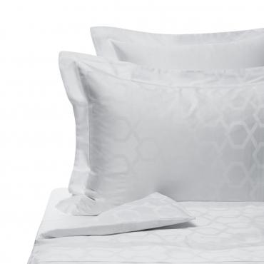 """Комплект жаккардового постельного белья """"Jacquard"""", королевский размер, белый"""