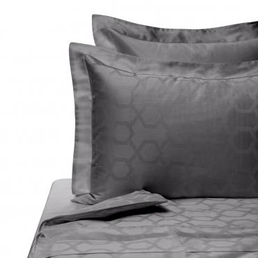 """Комплект жаккардового постельного белья """"Jacquard"""", двуспальный, серый"""