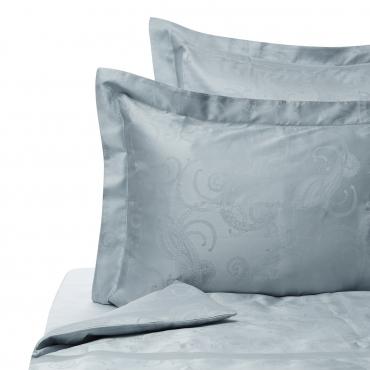 """Комплект жаккардового постельного белья """"Jacquard Lux"""", евростандарт, морской волны"""
