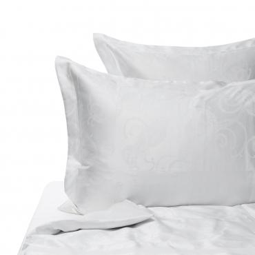 """Комплект жаккардового постельного белья """"Jacquard Lux"""", королевский размер, белый"""
