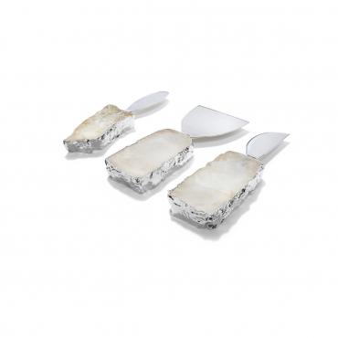 """Набор из трёх ножей для мягкого сыра с посеребрением """"Kiva"""", l 13 см"""