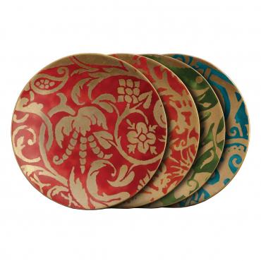 """Набор из разноцветных десертных тарелок """"Fortuny"""", d 20 см"""