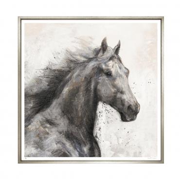 """Репродукция картины на холсте """"Camargue Horse"""", 86x86 см"""