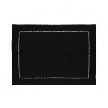 """Плейсмат льняной черный """"Linen"""", 51х38 см"""