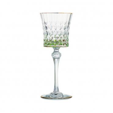 """Бокал для вина зеленый """"Серена"""", h 21 см"""