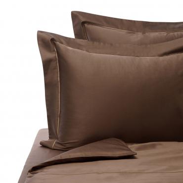"""Комплект из двух наволочек """"Satin"""", 65х65, коричневый"""
