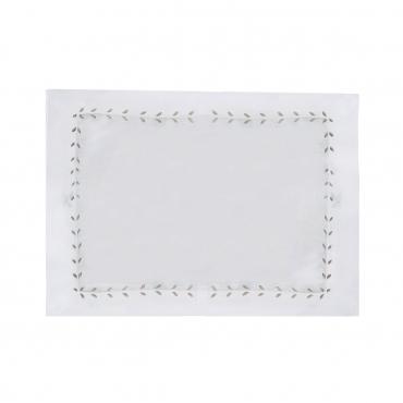 """Плейсмат льняной с ручной вышивкой """"Marie"""", 51х38 см"""