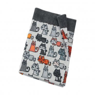 """Полотенце для тела """"Cats """", шенилл, 75х150 см"""