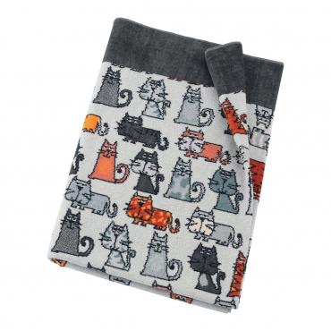 "Банное полотенце ""Cats "", шенилл, 150х100 см"